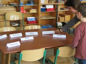 Minischule Namensschilder